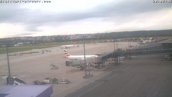 WebCam Flughafen STR + aktuelle Wetterdaten